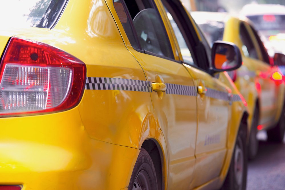 Taxi,Yellow,Cab,On,Street