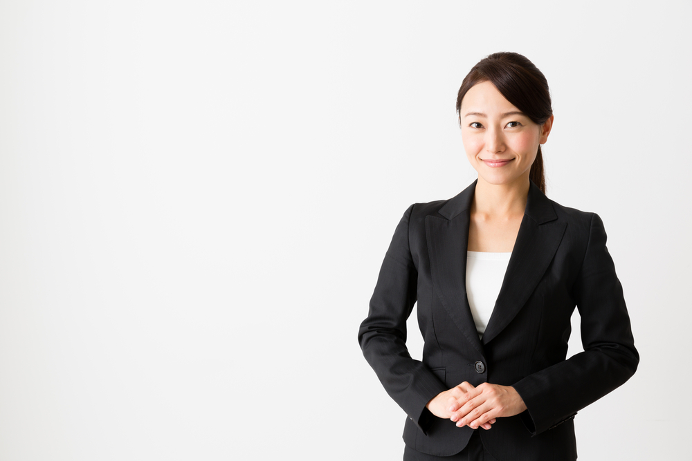 Portrait,Of,Asian,Businesswoman,Isolated,On,White,Background