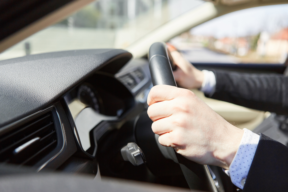 Motorists,Have,Their,Hands,Firmly,On,The,Steering,Wheel,As
