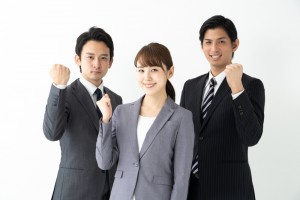 Portrait,Of,Asian,Business,Team,On,White,Background
